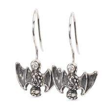 Happy Bats Earrings with Silver Earring Hooks