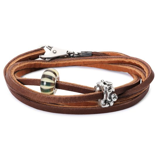 Leather Bracelet Light/Dark Brown