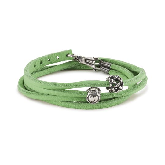 Comforting Smiles Leather Bracelet