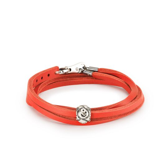 Wise Smiles Leather Bracelet