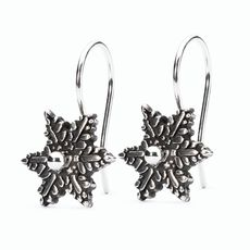 Snow Flower Earrings with Silver Earring Hooks