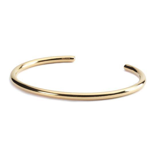 Twisted Gold Bangle with Pyrite