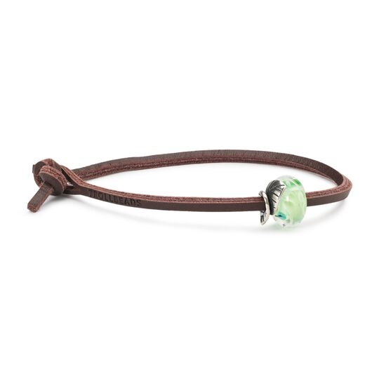 Lime Leaves Leather Bracelet