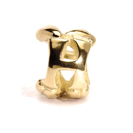 Letter Bead, H, Gold