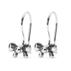 This is an image of the product Bow Earrings with Silver Earring Hooks