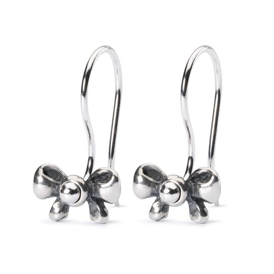 Bow Earrings with Silver Earring Hooks