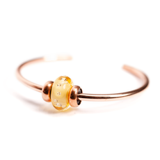 This is an image of the product Diamond Bead Amber Copper Bangle