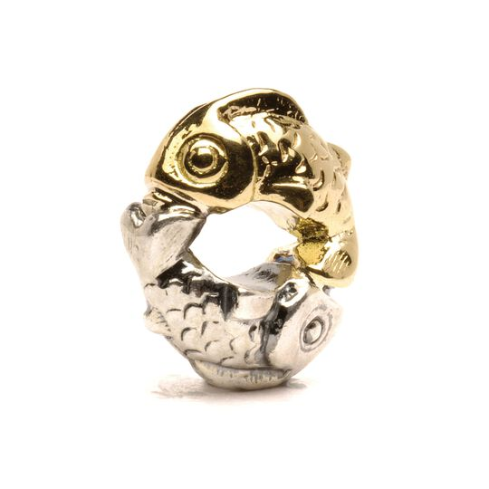 Happy Fish  Bead, Silver and Gold