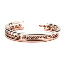 Silver & Copper Bangle Set