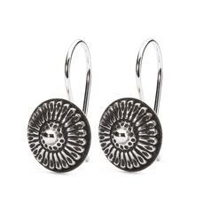 Daisy Donut Earrings with Silver Earring Hooks