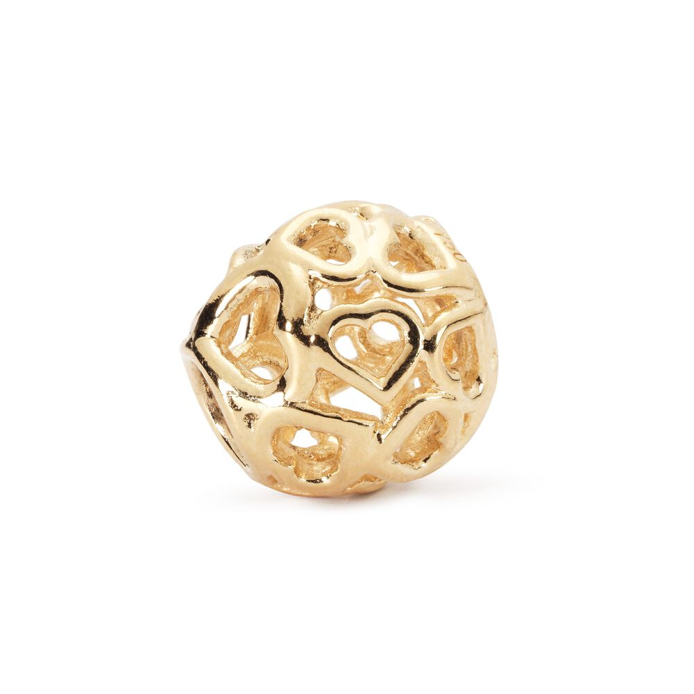 Bouquet of Hearts Bead, Gold