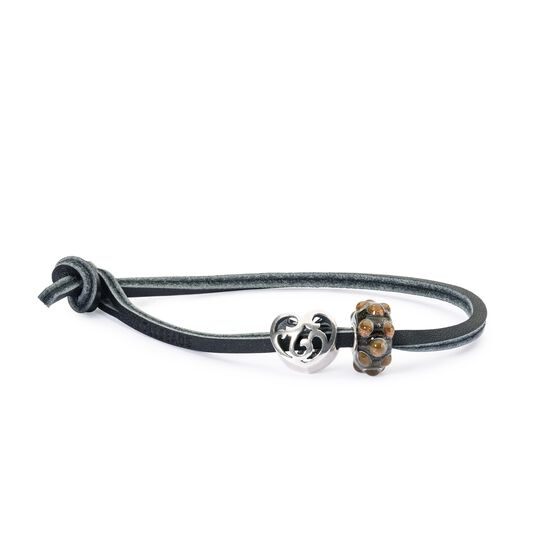 Single Leather Bracelet, Black