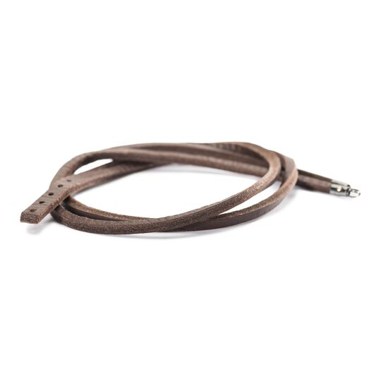 Leather Bracelet Brown/Silver