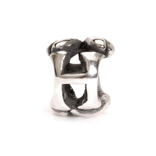 Letter Bead H, Silver