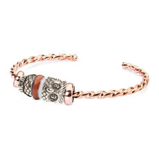 Night Owl Twisted Copper Bangle