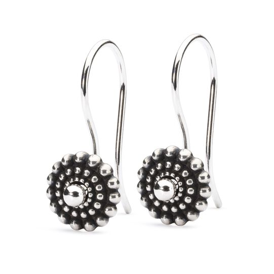Sun Circle Earrings with Silver Earring Hooks