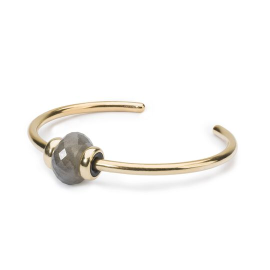 Gold Bangle with Labradorite