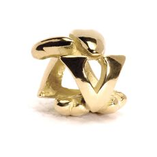 This is an image of the product Letter Bead, V, Gold