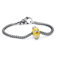 Summer Flowers Silver Bracelet, Flower Lock