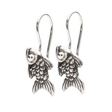 Carp Earrings with Silver Earring Hooks