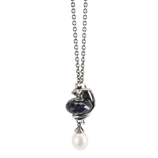 Authentic Trollbeads 54100 Necklace Silver FantasyFreshwater Pearl 39.4 inch:0