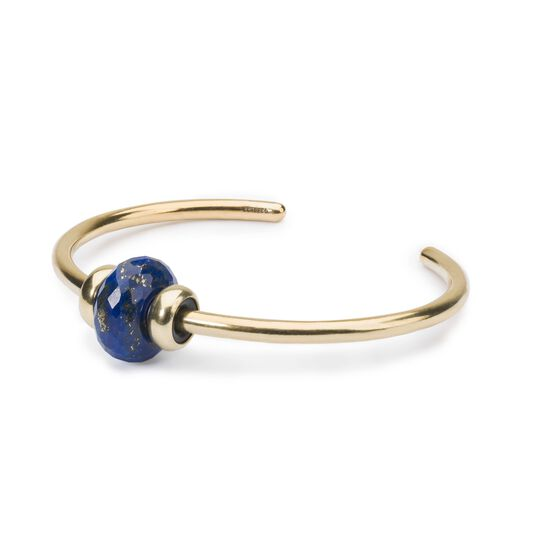 Gold Bangle with Lapis Lazuli