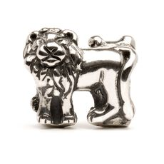 Lions Bead, Silver