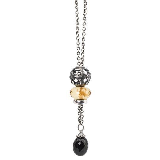 Fantasy Necklace With Black Onyx Silver 60 cm/23.6 in