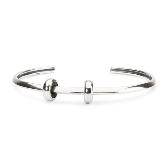 Heart Bangle with 2 x Silver Spacers