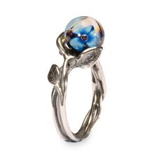 This is an image of the product Anello con Fiore Blu