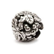 Wine Harvest Bead, Silver
