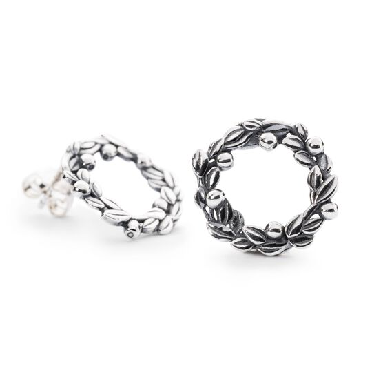 Blueberries of Youth Studs, Silver