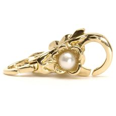 This is an image of the product Flower/Pearl Lock, Gold