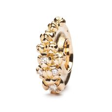 This is an image of the product Goldene Bougainvillea mit Diamanten