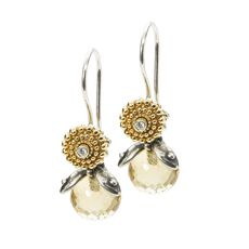 Citrine Facet Earrings