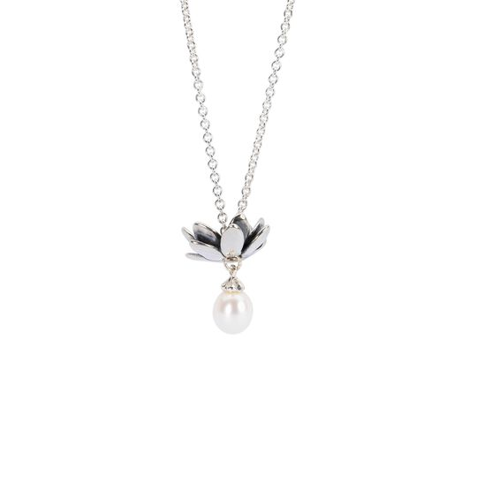 Fantasy Necklace With White Pearl, Polished