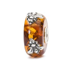 "This is an image of the product Bernstein Bead ""Gold der Erde"" mit 2 Bienen"