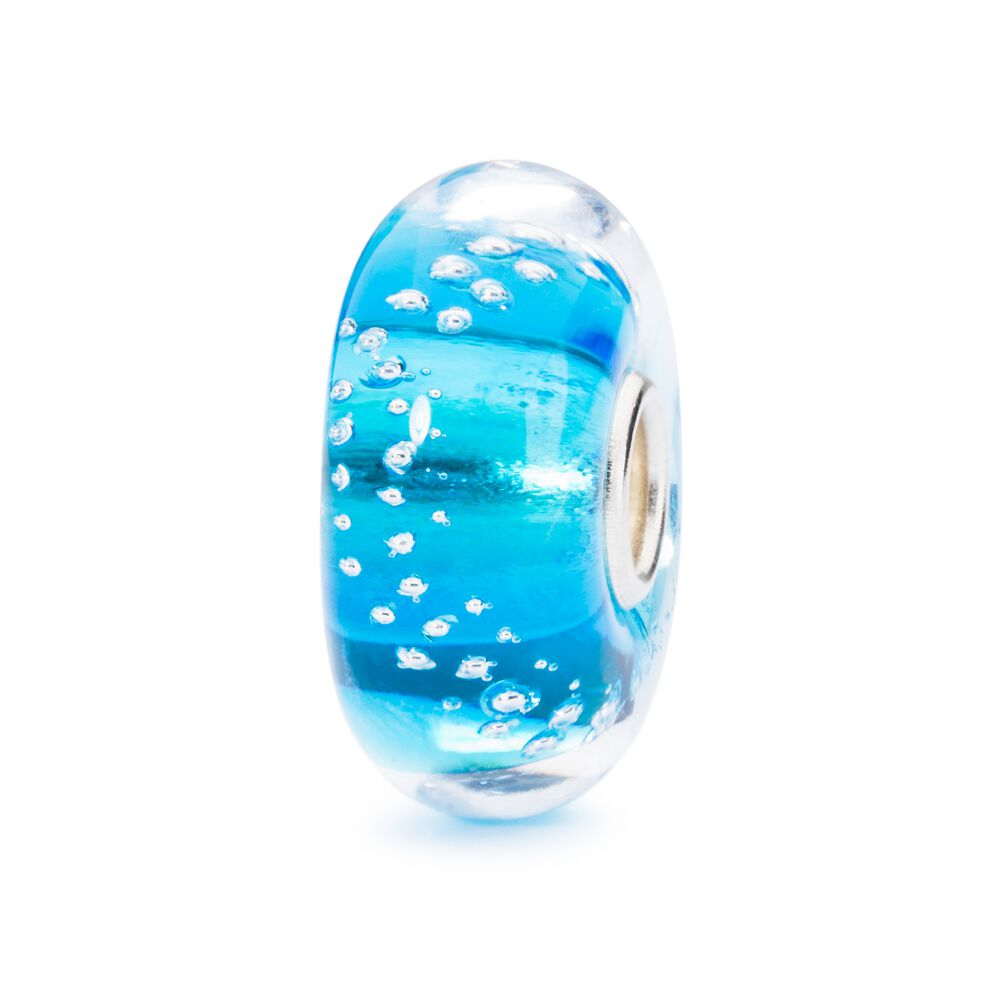 Silver Trace Turquoise Bead