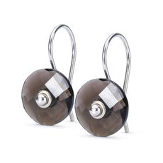 Smoky Quartz Earrings with Silver Earring Hooks