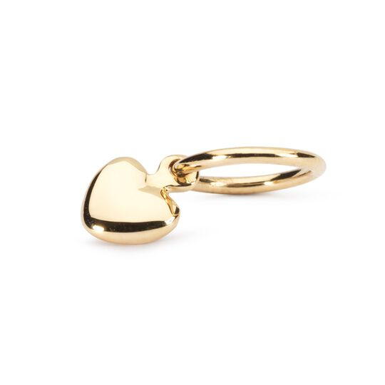 Gold Mini Heart Bead