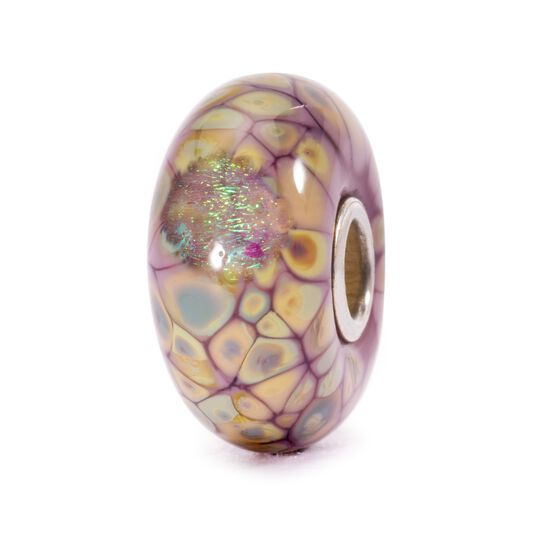 Purple Flower Mosaic Bead