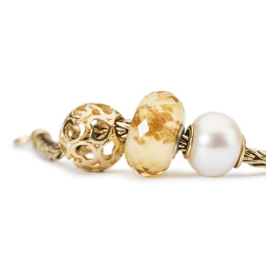 Pearl Bead with Gold
