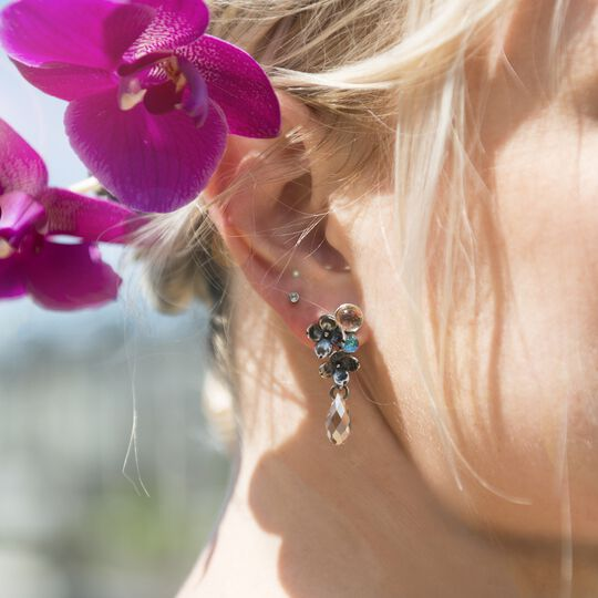 Flowers Earrings, Asymmetrical