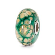 This is an image of the product Green Flower Mosaic Bead
