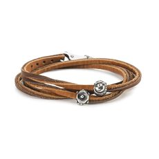 Strong Smiles Leather Bracelet