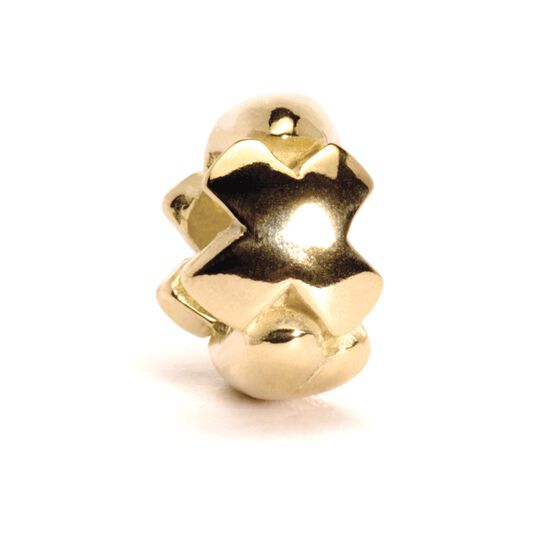 Letter Bead, X, Gold