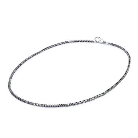 Sterling Silver Necklace with Plain Lock