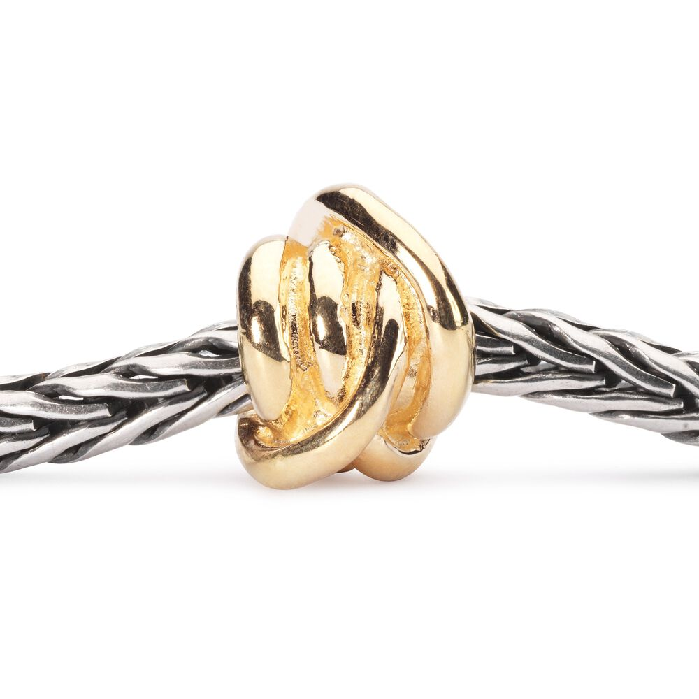 Lucky Knot Bead, Gold