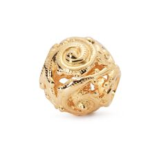 This is an image of the product Gold Whorl Bead
