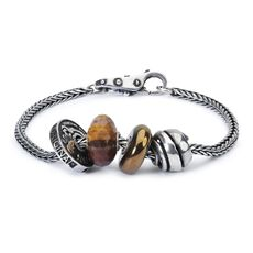This is an image of the product Sterling Silver Bracelet with Gemstones, Sterling Silver Beads and Lock of Wisdom